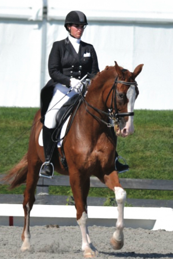 Young Rider Rebecca Cohen and Downtown, aka 'Daddy,' riding in their Custom Saddle. (Photo: SusanJStickle.com)