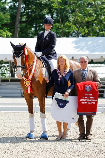 Rebecca Cohen and Downtown won the National Junior Dressage Reserve Championship at the 2012 USEF National Championships at Gladstone. (Photo: SusanJStickle.com)