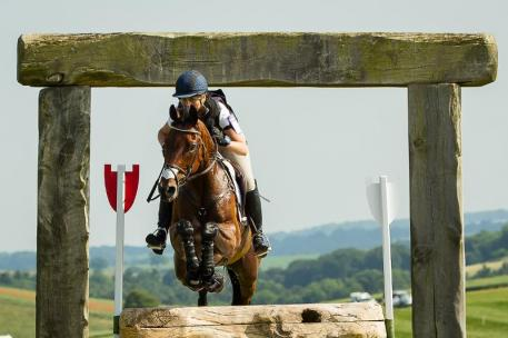 Rebecca Howard and Riddle Master's foot perfect performance cross country at CIC3* Barbury Castle International Horse Trial, GRB.  LIBBY LAW PHOTOGRAPHY - NZL