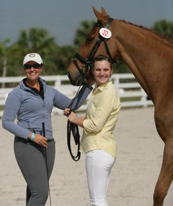 Reese Koffler-Stanfield and Cassandra Hummert-Johnson at the 2013 Palm Beach Derby