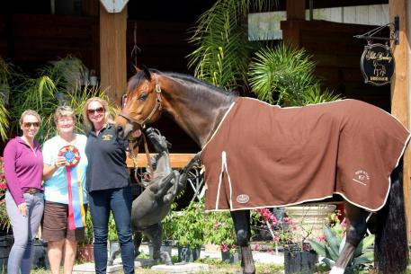 Silke Rembacz rode Est Est Est to the highest score at the IHS Champions Cup CDI 3*, earning an 80.800%. Owned by Lori Racioppo, Est Est Est won The Horse of Course High Score Award, sponsored by The Horse of Course, Inc.
