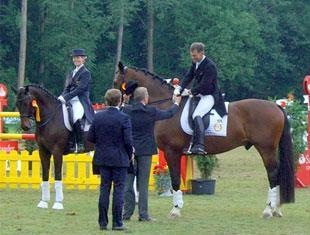 Jim Koford and Rhett in the prize giving at Riesenbeck, Germany