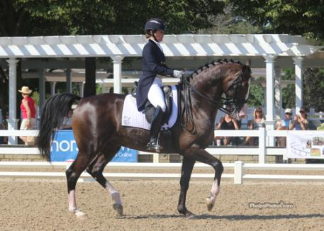 Katie Riley (White House Station, NJ) and her own nine-year-old KWPN stallion Zanzibar (Consul x Juventus/Farmer) secured third place honors