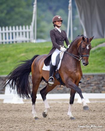 PJ Rizvi smiled all the way through her first Grand Prix with Breaking Dawn Photo: TerriMiller.com