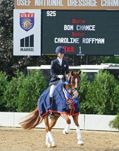 Caroline Roffman and Bon Chance Celebrate Victory (Photo Fire and Earth Photography - offical show photographer)