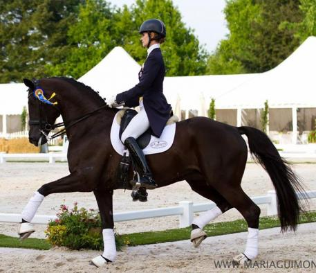 Caroline Roffman and Her Highness O in their first European CDI.(Photo: courtesy of Maria Guimon Photography)