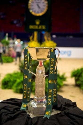 It's the one that they want!  The Rolex FEI World Cup™ Jumping trophy.  Photo: FEI/Kit Houghton.