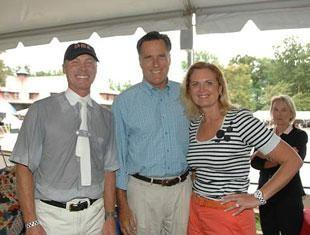 USA Dressage Team veteran Jan Ebeling with Mitt and Ann Romney at the 2010 Collecting Gaits Farm/USEF Dressage National Championships (photo: Diana De Rosa)