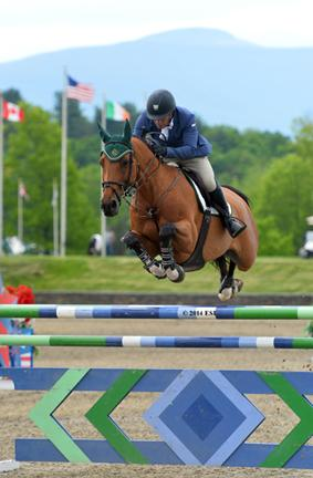 Ronan McGuigan and Capall Zidane on their way to a win in the ,000 Brooke Ledge Open Welcome at HITS Saugerties. ©ESI Photography