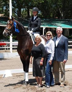 Sabine Schut-Kery and the bay Hanoverian stallion Sanceo will represent the US in the 6-year-old division at The FEI World Dressage Championships for Young Horses (Photo: Kelly Sanchez)