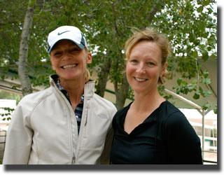 Sabine Schut-Kery and Coach ChristineTraurig