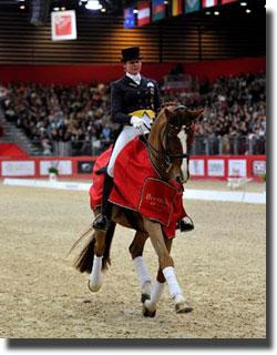 Germany's Ulla Salzgeber and Herzruf's Erbe won the second leg of the Reem Acra FEI World Cup™ Dressage 2011/2012 series in Lyon, France. (Photo: FEI/Kit Houghton).