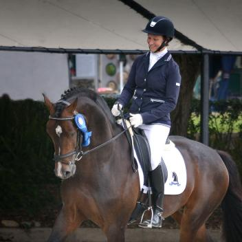 "California's  Sabine Schut-Kery & ""Sanceo"" are the top-ranked six-year-old qualifiers for the 2012 Markel/USEF National Young Horse Dressage Championships.  Photo: Jennifer M. Keeler"