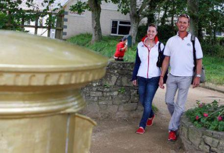 One of the highlights at Sark of course is visiting Sark's only golden postbox!