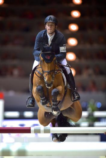 Scott Brash (GBR), pictured here at the Longines FEI World Cup™ Jumping Final 2014 riding Ursula XII, heads the Longines Rankings in Jumping. ©FEI/Arnd Bornkhorst