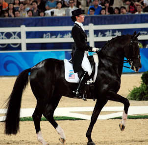 Courtney King-Dye and Mythilus at the 2008 Beijing Olympics