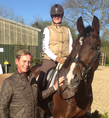 Carl hester and Elisabeth Austin with Coltrane