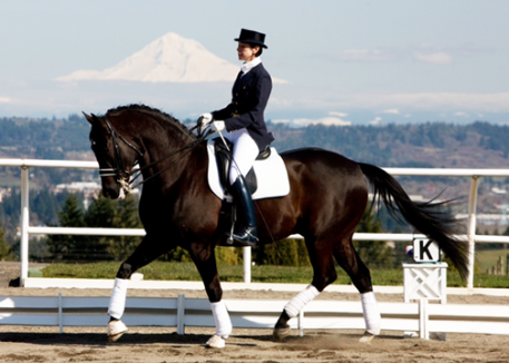 Deborah Hausman and Ferrogamo Photo: Courtesy of Irrideon Riding Apparel