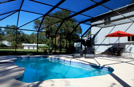 Keep an eye on your barn and paddocks from the pool!