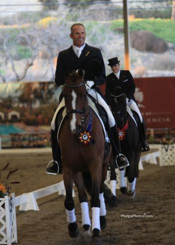 Guenter Seidel and Fedora winners of the CDI Prix St Georges