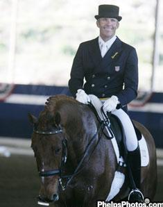 Guenter Seidel and UII in their return to the arena this winter at the Dressage Affaire