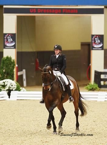Sheryl Ross at the inaugural US Dressage Finals with Lancaster Photo: SusanJStickle