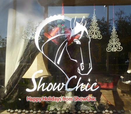 ShowChic is gearing up for their December ShopTalk with holiday decorations and the latest in equine fashion and accessories.
