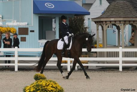 Sirah (Sir Donnerhall) with Rebecca Vick (Photo: Crystal Lee)