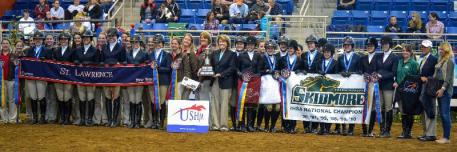 2013 IHSA Collegiate Cup Co-Champions St Lawrence University and Skidmore College ©Madison T. Harris