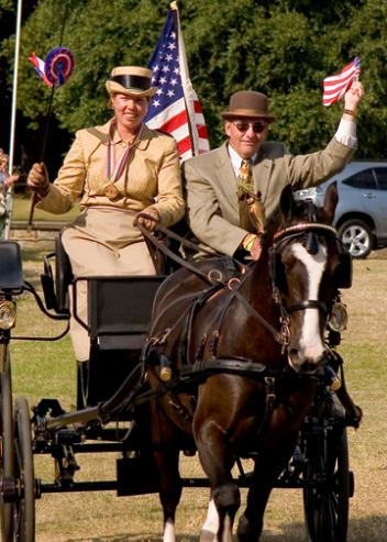 Suzy Stafford stepped into the world spotlight as the youngest and first  American driver to win individual Gold in an international driving competition, driving the Welsh gelding Cefnoakpark Bouncer to first place in the 2005 World Pony Driving Championships in England