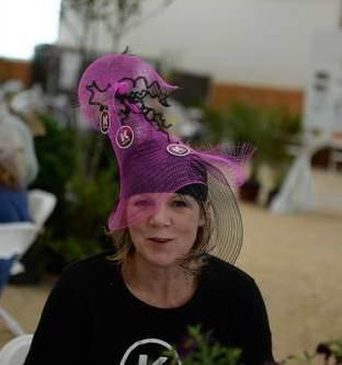 Wendy McCaughan of Kanteq, one of the sponsors, was also a winner in the hat contest for her own sponsor hat creation.