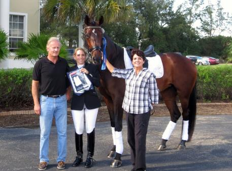 Michael Cabell, Heidi Degele and Kay Moss with Sonata (Photo courtesy of Heidi Degele)