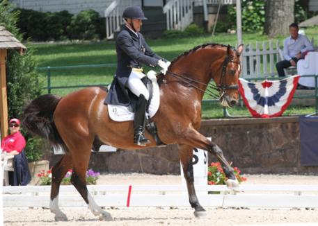 Piere St Jacques and Lucky Tiger perform their personal beast at the 2012 USEF Dressage Festival of Champions.