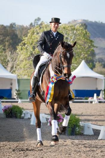 Steffen Peters & Legolas 92 celebrate another Grand Prix win at the Festival of the Horse CDI 3* (Photo: Terri Miller)