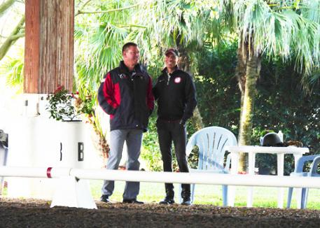 Scott Hassler and Steffen Peters at the 2014 Succeed©/USDF FEI Level Trainer's Conference