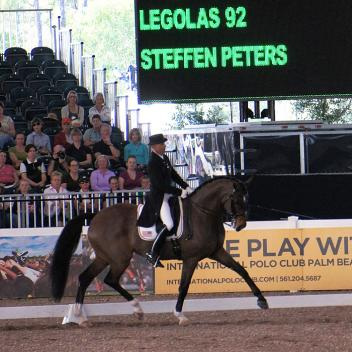 Steffen Peters riding Legolas at the 5* World Dressage Masters earlier this season