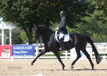 USEF Youth coach Jeremy Steinberg and KGF Harmony competed at the Markel/USEF Young Horse Dressage Championships 2012