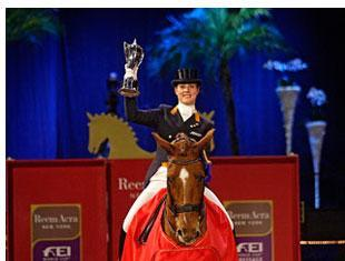 The Netherlands' Adelinde Cornelissen and Jerich Parzival, winners of the third leg of the 2010/2011 Reem Acra FEI World Cup™ Dressage series in Stockholm , Sweden today. Picture FEI Ronald Thunhol