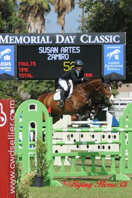 Susie Artes and Zamiro are the only ones to answer Danny Foster's questions and nail the ,000 Memorial Day Classic Grand Prix Photo: Flying Horse Photography