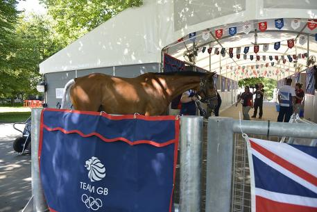 Heading into the Team GB stables at Greenwich Park (Photo: Kit Houghton/FEI)