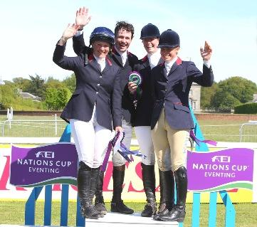 The winning British team at the Houghton Hall leg of the FEI Nations Cup™ Eventing: Gemma Tattersall, Francis Whittington, Emily Llewellyn, and Izzy Taylor. (FEI/Fiona Scott-Maxwell)