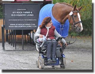 Ramp at Saugerties, NY Facility donated by IVY Tock Farms & R+S Country Living will benefit Para-Equestrians like Donna Ponessa and Otto (Photo: Lindsay McCall)