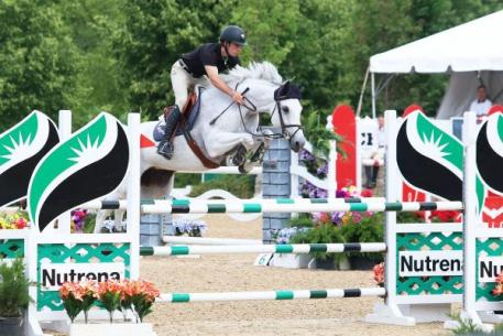 Theo Genn and Asirea Fortuna led the way in the 1.30m Open Jumpers on the second day of the Showplace Spring Spectacular III. Photos by: Kendall Bierer/Phelps Media Group.