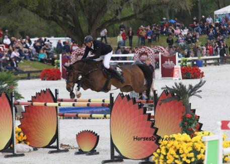 Andre Thieme of Plau am See, Germany wins the Great American Million Dollar Grand Prix in Ocala on his 10-year-old Oldenburg mare Contanga 3 by Catoki out of a Contango I mare,  Photo: Mary Phelps