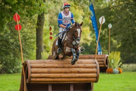 Double-champion, Thomas Carlile from France, en route to victory in the the Seven-Year-Old category at the FEI World Breeding Eventing Championships for Young Horses 2013 at Le Lion d'Angers (FRA). Photo: FEI/Arie de Vroet