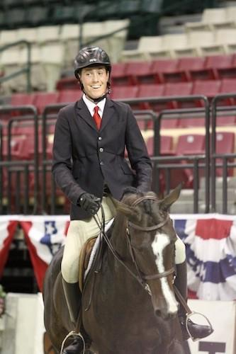 Thomas O'Mara and Kaskade winning the North American Junior Flat Equitation Championships. Photo © Jennifer Wood Media, Inc.
