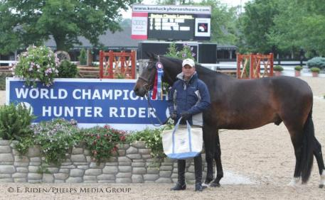Taking their turn at the top in the First Year Green Hunters were Tim Goguen and Ransom, owned by Saddle Ridge LLC.