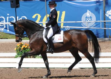 Tina Irwin riding Winston won a Team Silver medal and placed fifth individually riding Winston in her Pan American Games debut in Guadalajara, Mexico. (Photo: Dieter Busse)