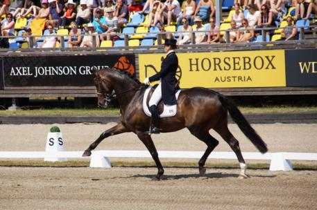 Tinne Vilhelmson-Silfvén (SWE) and Don Auriello in the Nürnberger Grand Prix presented by Axel Johnson Group