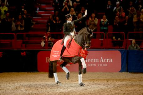 Sweden's Tinne Vilhelmson-Silfven and Don Auriello won the third leg of the Reem Acra FEI World Cup™ Dressage Western European League series at Stockholm, Sweden today.  (Photo: FEI/Roland Thunholm.)